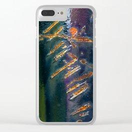 Metal Scratch Clear iPhone Case