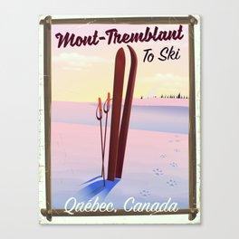 Mont-Tremblant Canada ski travel poster Canvas Print