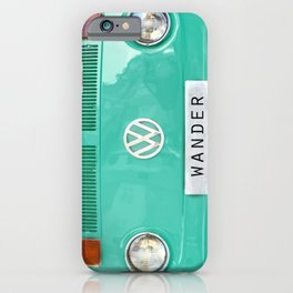 Wander van. Summer dreams. Green iPhone Case