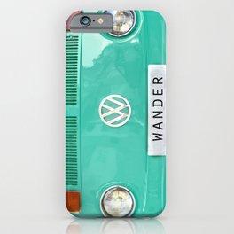 Wander wolkswagen. Summer dreams. Green iPhone Case