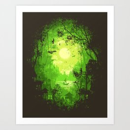 Autumn Green Art Print