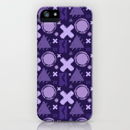 Ultra Violet Geometrix iPhone Case