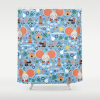 dumbo Shower Curtains featuring Dumbo by Carly Watts