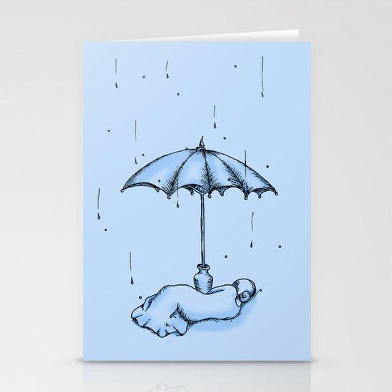 Rain Rain Go Away! Stationery Cards