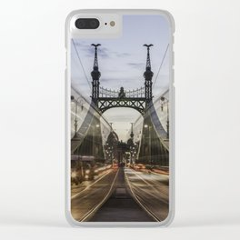 Budapest traffic Clear iPhone Case