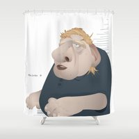 office Shower Curtains featuring Office Zombie by samcoxart