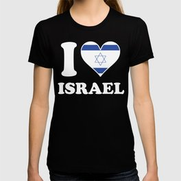 I Love Israel Israeli Flag Heart T-shirt