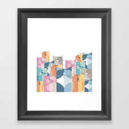 Too Many Cats? Framed Art Print
