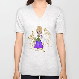 Fairy Princess .. fantasy Unisex V-Neck