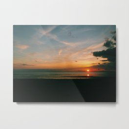 Sunset Over The Sea Metal Print