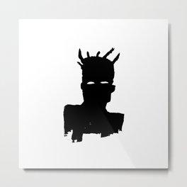 Jean Michel Basquiat - Self Portrait (Plaid), 1983 Metal Print