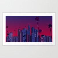 Los Angeles, Live! Art Print