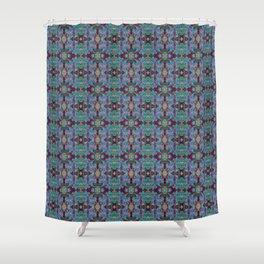 Overshot Pattern Shower Curtain