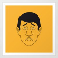 robert farkas Art Prints featuring Robert by Refresh Your Guess Who!