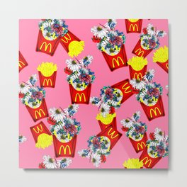 Botanical Mcdonalds Sweet Pale-Rose Metal Print