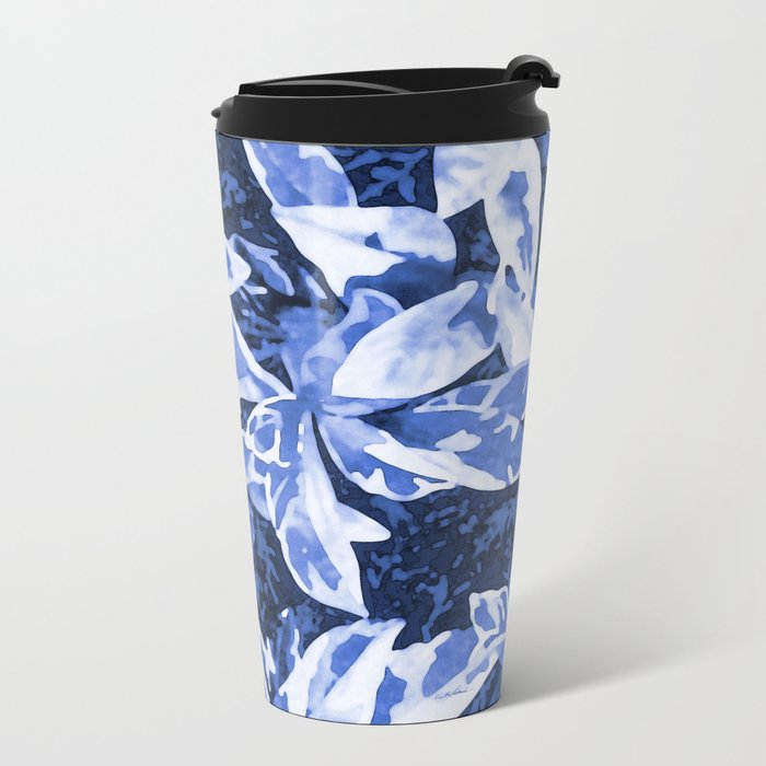 Aloha Blue Metal Travel Mug