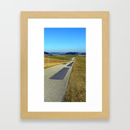 Country road into nothing particular | landscape photography Framed Art Print