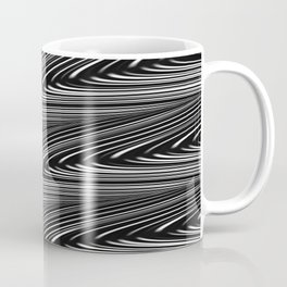 ALCHEMY dark grey mysterious wave abstract pattern Coffee Mug