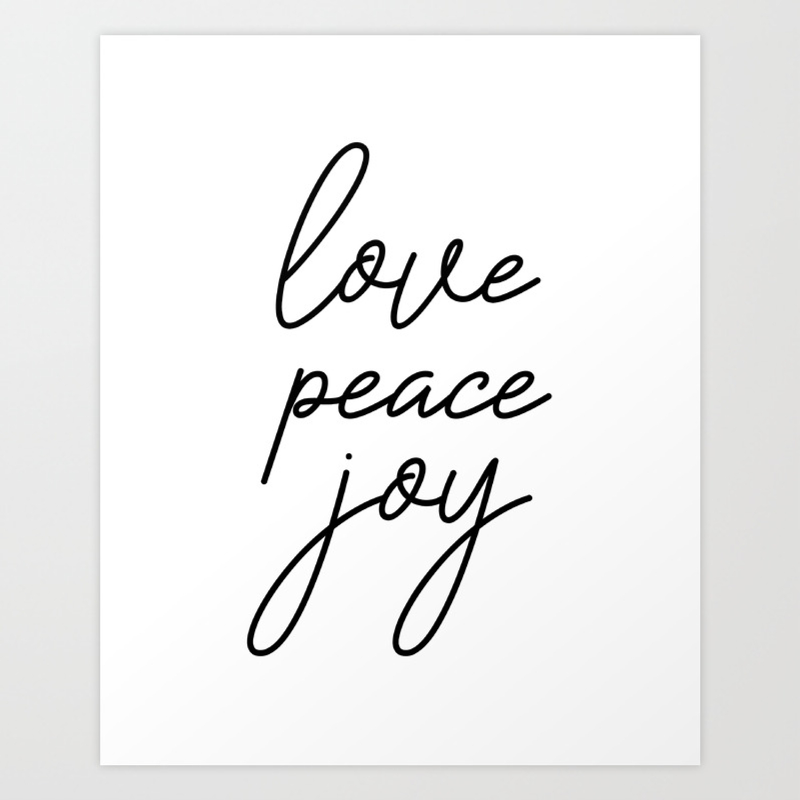 Love Peace Joy, Inspirational Quote