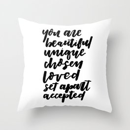 YOU ARE BEAUTIFUL Throw Pillow