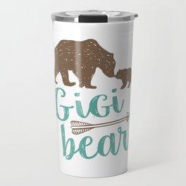 Gigi Bear Great Grandma Gift Travel Mug