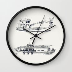 On paper: Capote y Picaflor Wall Clock