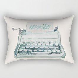 Vintage Typewriter Watercolor - Write II Rectangular Pillow