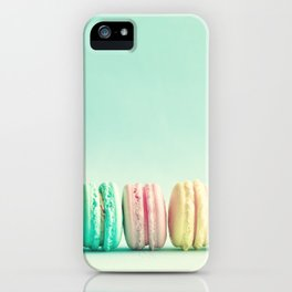 Macarons, macaroons row, pop art iPhone Case