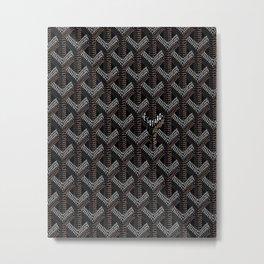 Goyard Black Metal Print