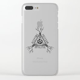ACCEPTING - FREEDOM - IMPACTFUL Clear iPhone Case