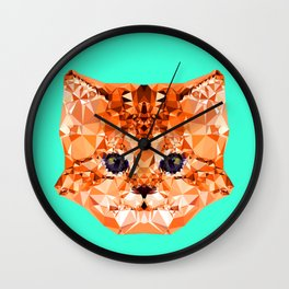 Geometric Kitten Wall Clock