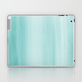 Touching Aqua Blue Watercolor Abstract #2 #painting #decor #art #society6 Laptop & iPad Skin
