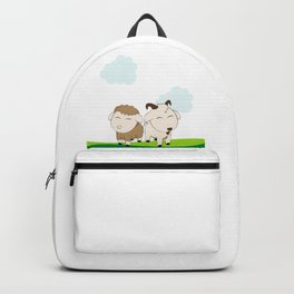happy sheep and happy goat Backpack