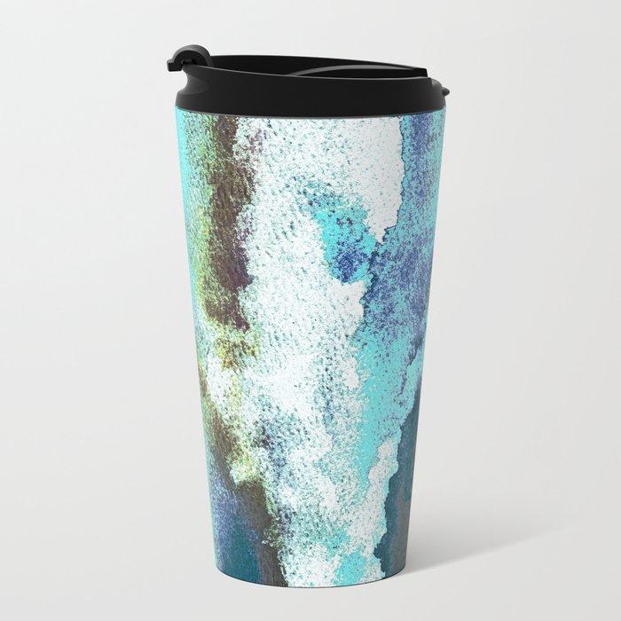Turquoise And Earth Nebula Metal Travel Mug