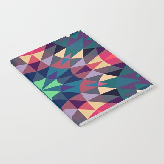 Cool Warmth Retro Geometry Notebook