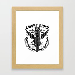 Biker Rider - Ride OR Die - Biker saying quote Framed Art Print