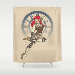 Clockwork Cutie Shower Curtain
