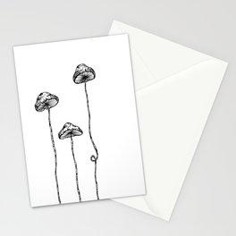 Mushroom Trio Stationery Cards