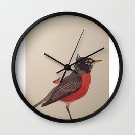 Mama and Her Babies Wall Clock
