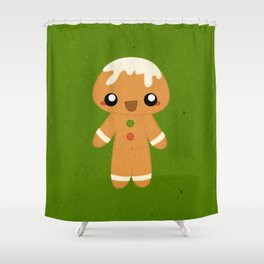 Christmas Card - Gingerbread Kid Shower Curtain