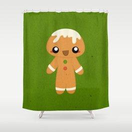 Christmas Card - Gingerbread Kid Shower Curtain