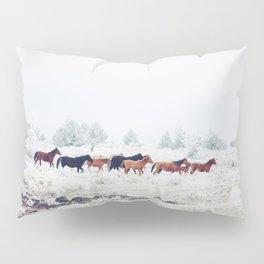 Winter Horse Herd Pillow Sham