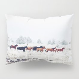 Winter Horse Herd Pillow Sham