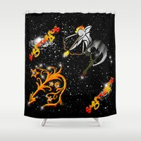 astrology Shower Curtains featuring Sagittarius Astrology Sign by TrinityHawk Photography & Multimedia