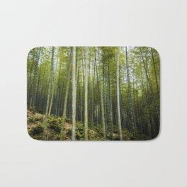 Bamboo Forest in Green Bath Mat