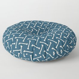 Its Going Tibia Okay - Dem Bones in Blue Floor Pillow