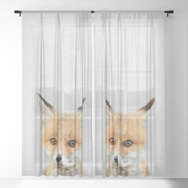 Baby Fox - Colorful Sheer Curtain