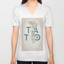 TATTOO CHICK Unisex V-Neck