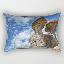 Babele rock landmark on Bucegi mountains, Romania, Eastern Europe Rectangular Pillow
