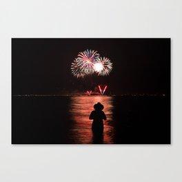 Fireworks over Lake Tahoe Canvas Print